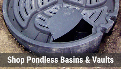 View and Shop Pondless Basins and Vaults Online